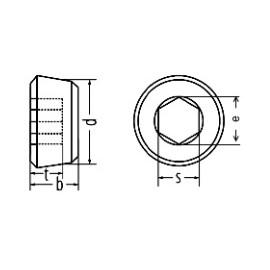 Verschlussschrauben mit Innensechskant und kegeligem metrieschen Gewinde, DIN 906, A2, M14x1.5