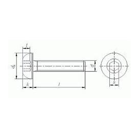 7380-2-3*10, M3X10, Linsenkopfschrauben mit Innensechskant