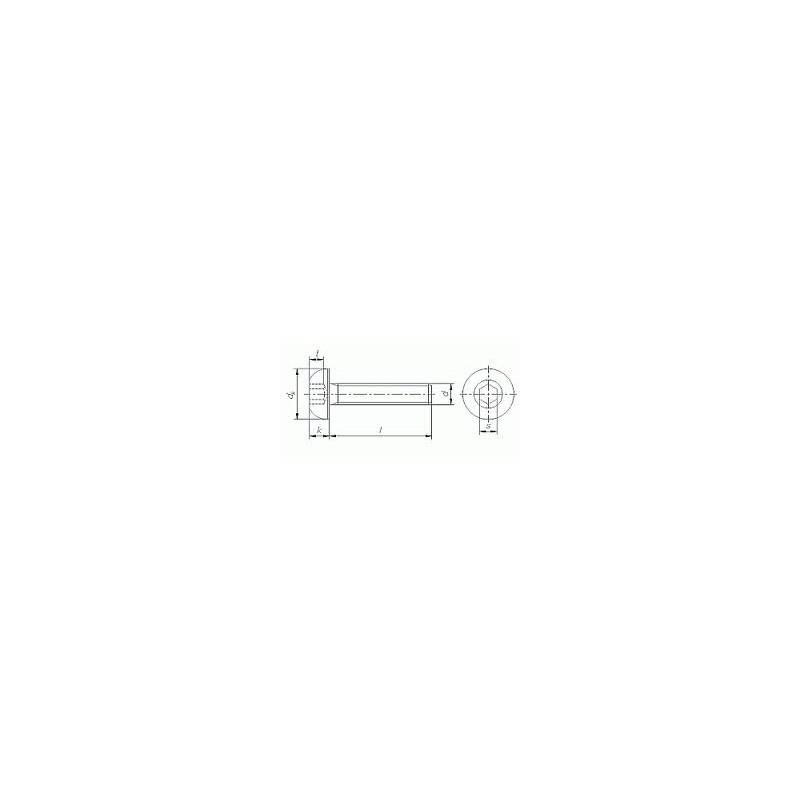 linsenkopfschrauben mit innensechskant iso 7380 a2. Black Bedroom Furniture Sets. Home Design Ideas